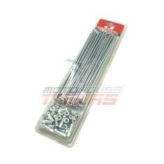 Ακτίνες ενισχυμένες 3,6mm 9G ασημί / ZINC καψούλια RCB (RACING BOY)