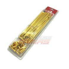 Ακτίνες ενισχυμένες 3,6mm 9G χρυσό 24K RCB (RACING BOY)
